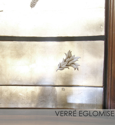 Verre Eglomise Reverse glass painting