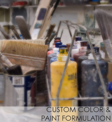 Custom color and  paint formulation